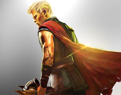 Thor: Ragnarok Digital Painting