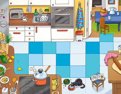 A jugar en la cocina / Playing in the kitchen