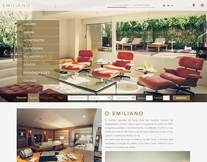 User interface design for hotel