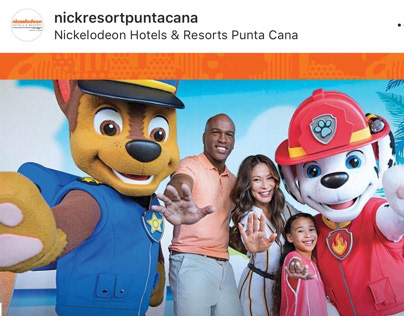 Instagram animation for Nickelodeon Punta Cana Resorts