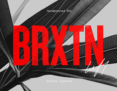 Brixton SVG - Handprinted Font (Free download)