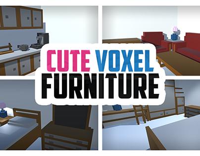 Cute Voxel Furniture