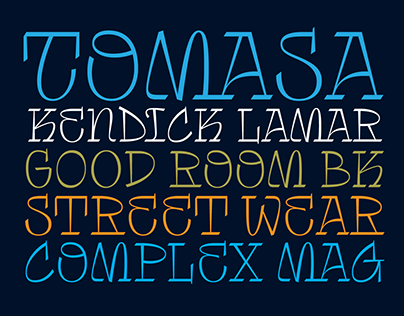 Tomasa Typeface