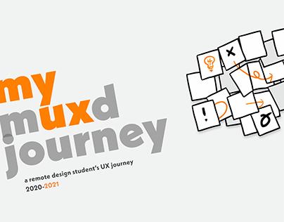 my MUXD journey - a remote design student's UX journey