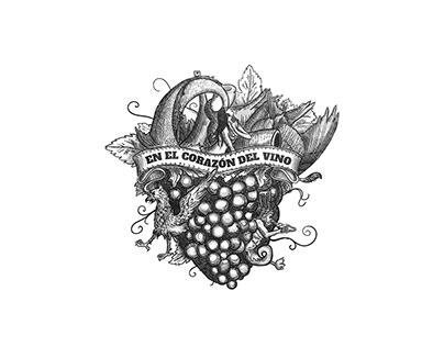 """""""En el Corazón del Vino"""" - Illustration & Branding"""