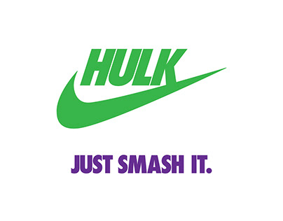 Marvel Characters as Famous Logos