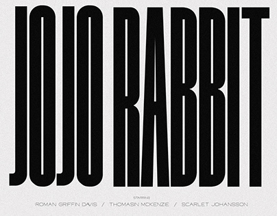 JOJO RABBIT / POSTER DESIGN