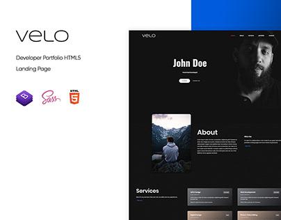 Velo - Developer Portfolio HTML5