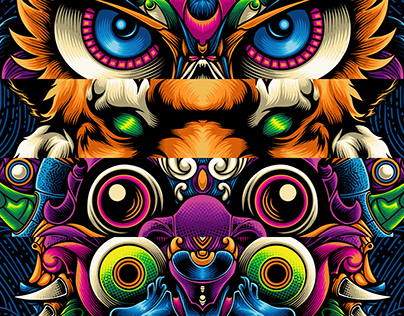 Mask Theme [ Illustration Project with a Client ]