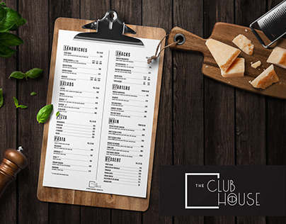 The Club House - Logo & Menu