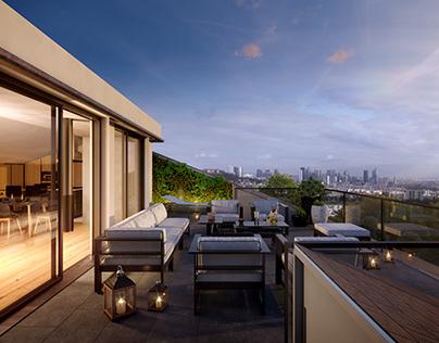 3D Luxury Home Terrace