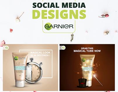 Garnier Social Media Designs