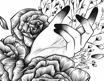 La main fleurie