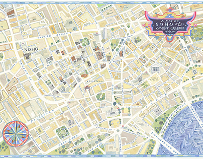 A Map of Soho and Covent Garden - private commission