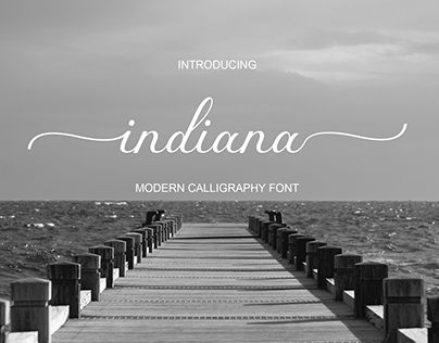 Indiana Font Calligraphy