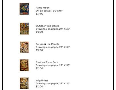 No Studio's Gallery Price list/banner