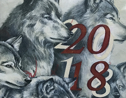 Year of the dog / 2018.