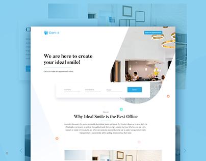 Dental website design concept
