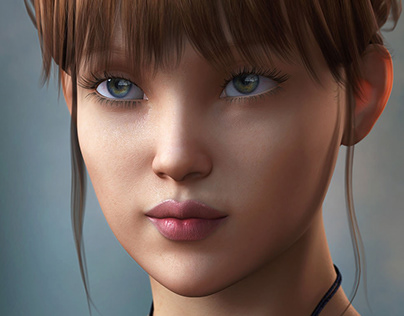 3d Model Girl Character Design