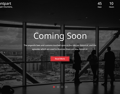 Mountpart — Coming Soon HTML5 Template