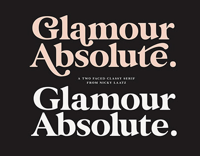 Glamour Absolute Modern/Vintage Font
