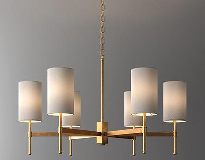 Gold stem chandelier
