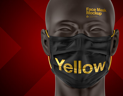3 Face Mask PSD Mockups