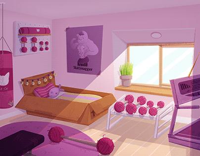 concept cenario - background - gatinha maromba