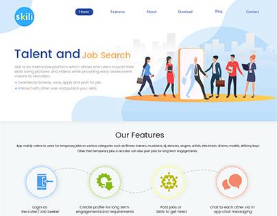 Skilli Website and App