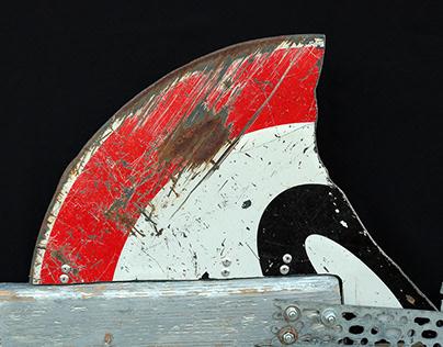 'Stark Shark' wall sculpture