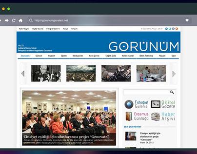 Görünüm Gazetesi Web Sitesi