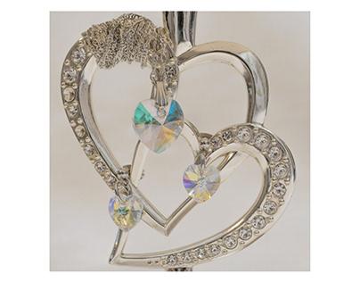 "Jewelry made of Venetian glass ""Heart"""