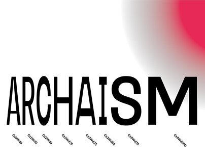 Archaism Typeface