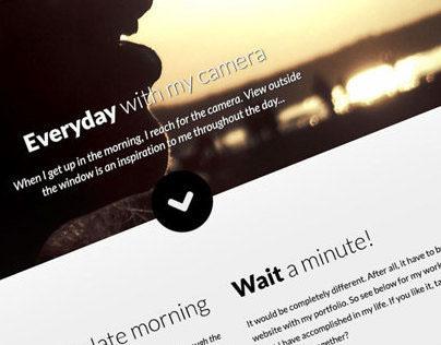 One Page Photographer Portfolio
