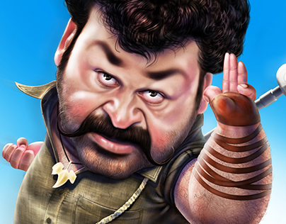 Pulimurukan - Mohan lal - Charicature