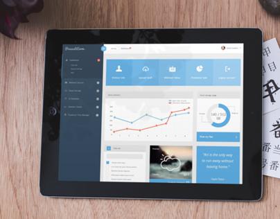 PrasastiEnom - PSD Dashboard / Webapp Template
