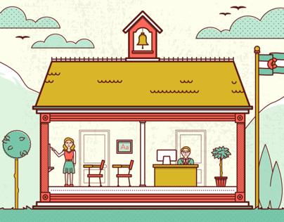 Colorado Schools Illustration
