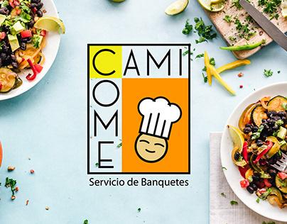 Logo CamiCome, Servicio de Banquetes