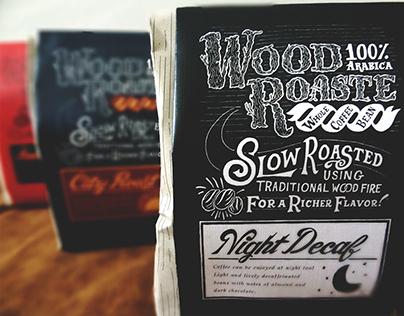 Wood Roasted Coffee Packaging Design