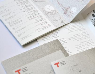 "flyer ""Recupero"" at Triennale Design Cafe in Milan"