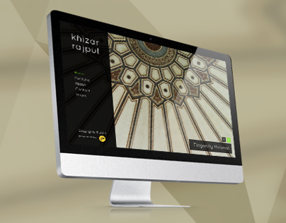 Website Design for Khizar Rajput
