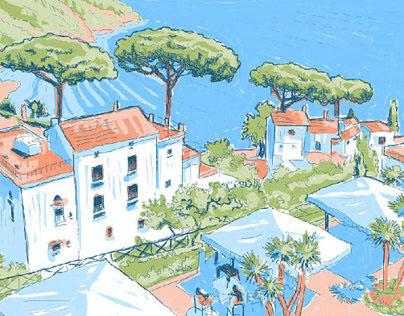 Amalfi Coast illustration