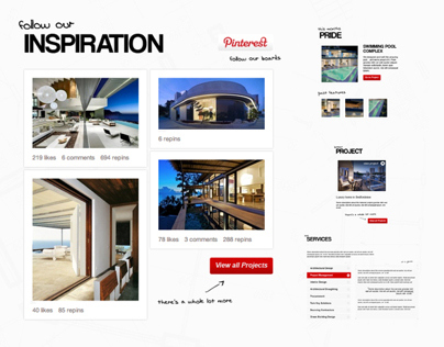 Architectural Website Elements