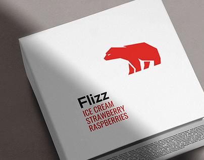 Flizz. Brand & packaging design for ice-cream