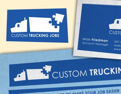 Custom Trucking Jobs Logo, Business Card & Flyer