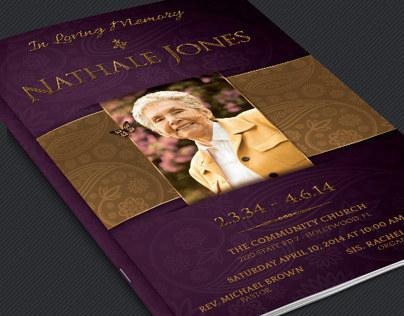 Royal Funeral Service Program Template