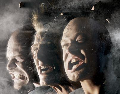 Noisia - Split the Atom album cover (EU)