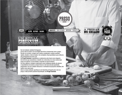 Prego Gourmet web proposal