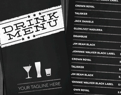 Lounge Bar Drink Menu (Modern)