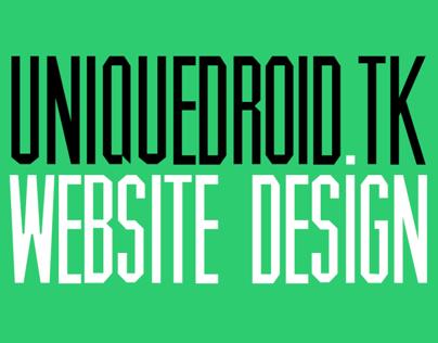 uniquedroid.tk webdesign